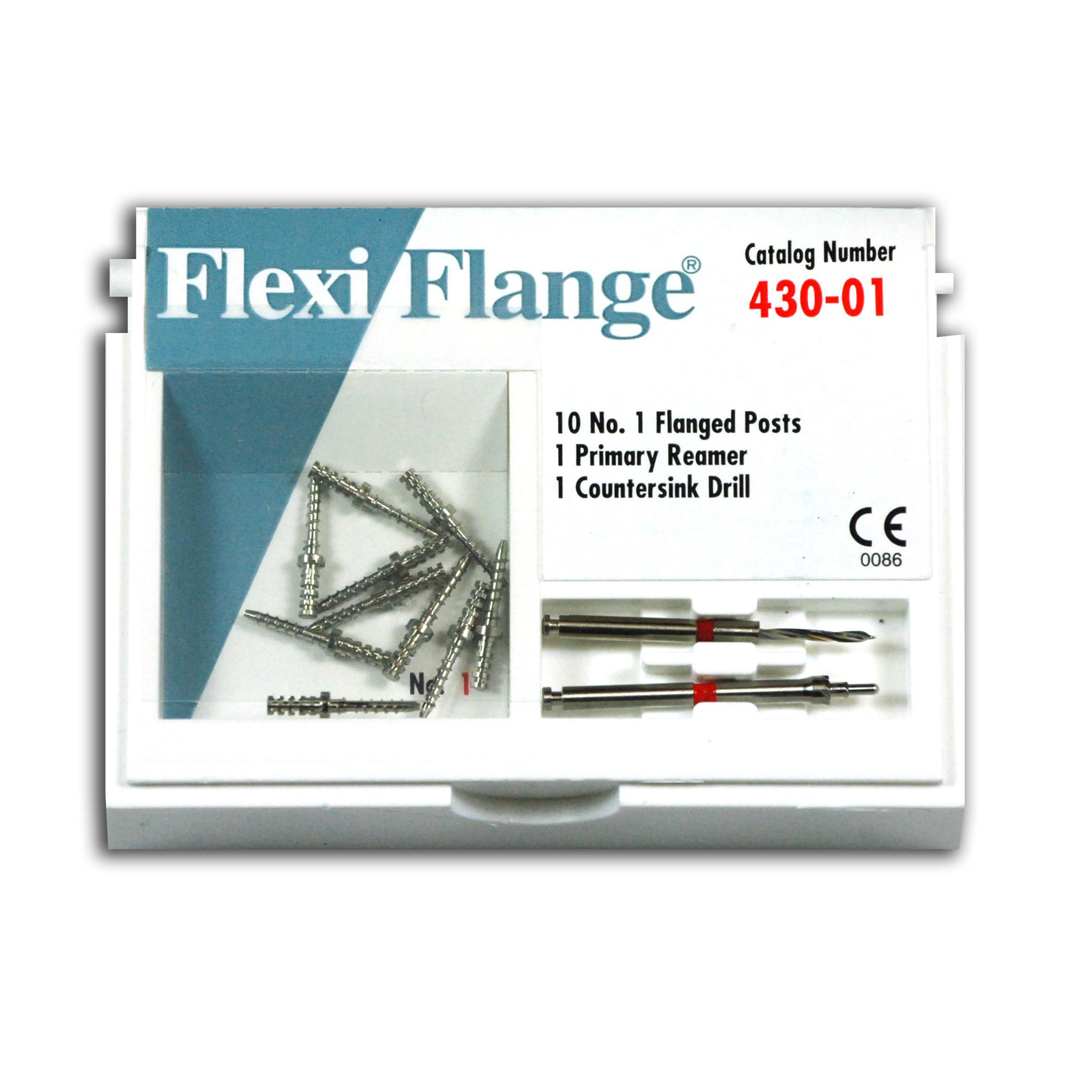9530734 Flexi-Flange Stainless Steel Refill, Size 1, Red, 10/Pkg., 430-01