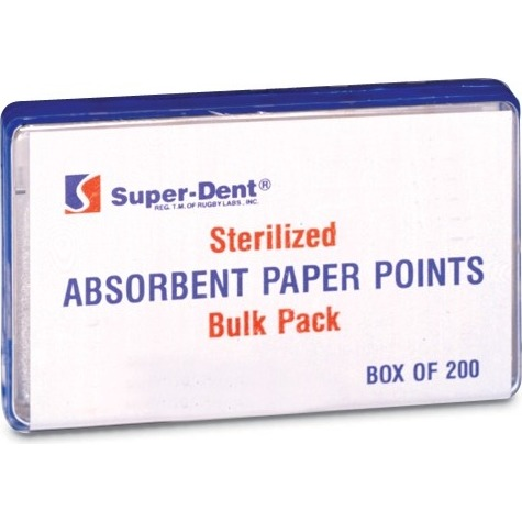 9533508 Absorbent Paper Points Coarse, 200/Box