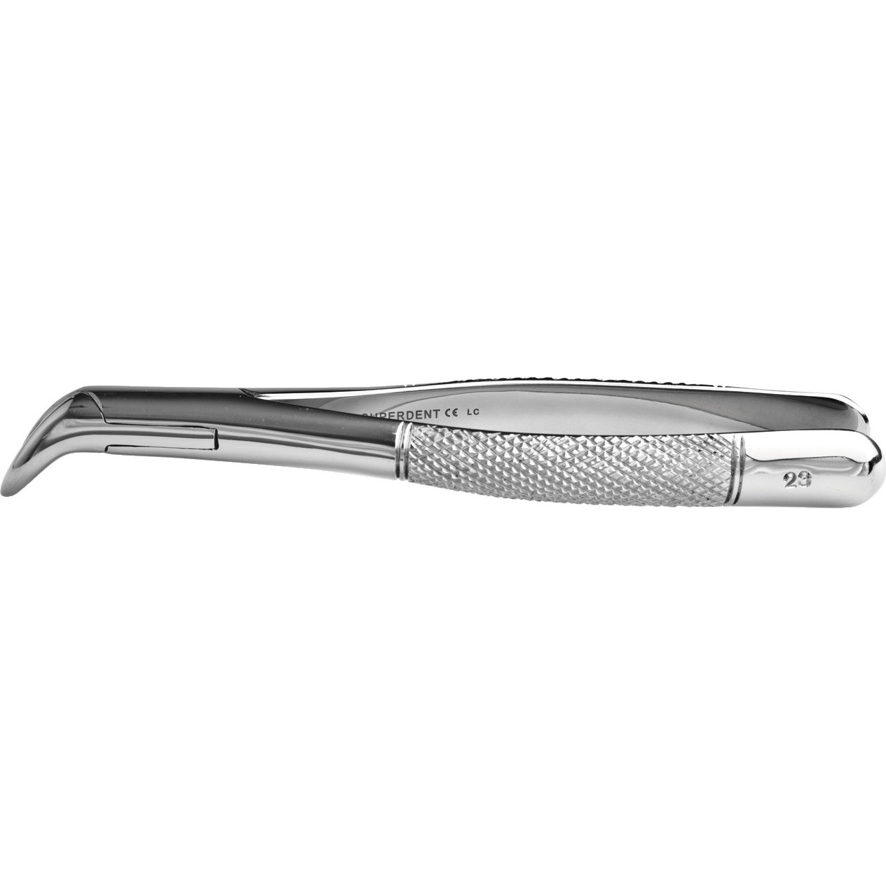 9552322 Stainless Steel Extraction Forceps #23, Cow Horn Beak, Straight Handle